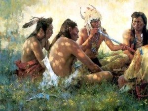 indians-smoking-pipe